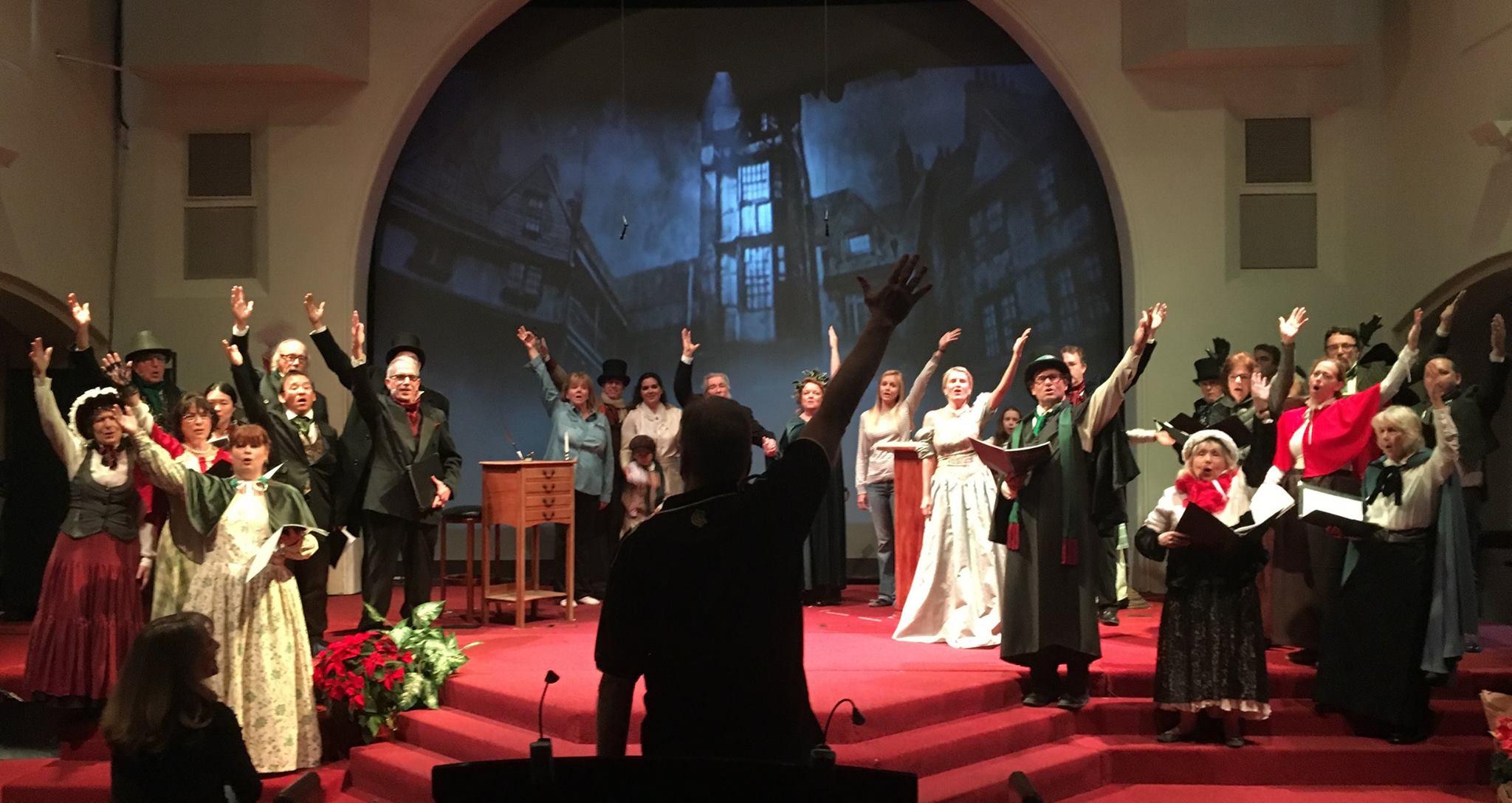 Glenn Longacre Directing the cast of Scrooge! 12/16