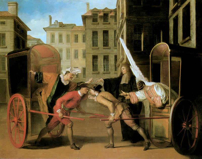 Les Deux Carrosses Claude Gillot 1707
