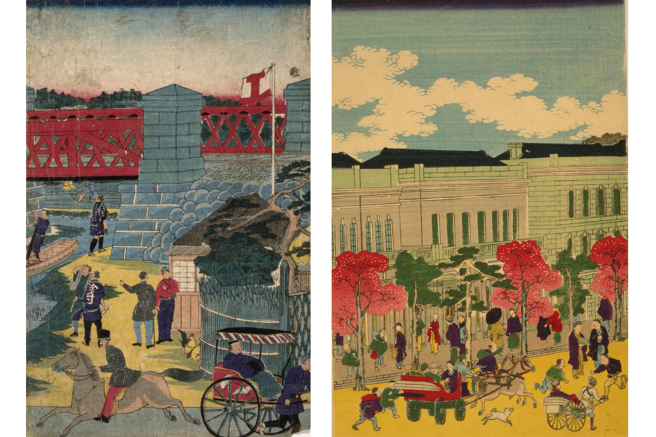Japanese Woodcut, 1870 Utagawa, Hiroshige