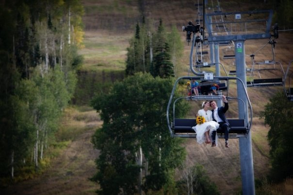 Chairlift on Snowmass Mountain