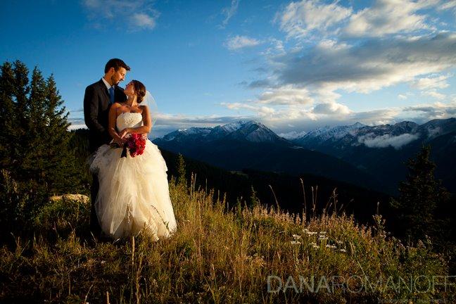 Rocky Mountain Wedding Shot