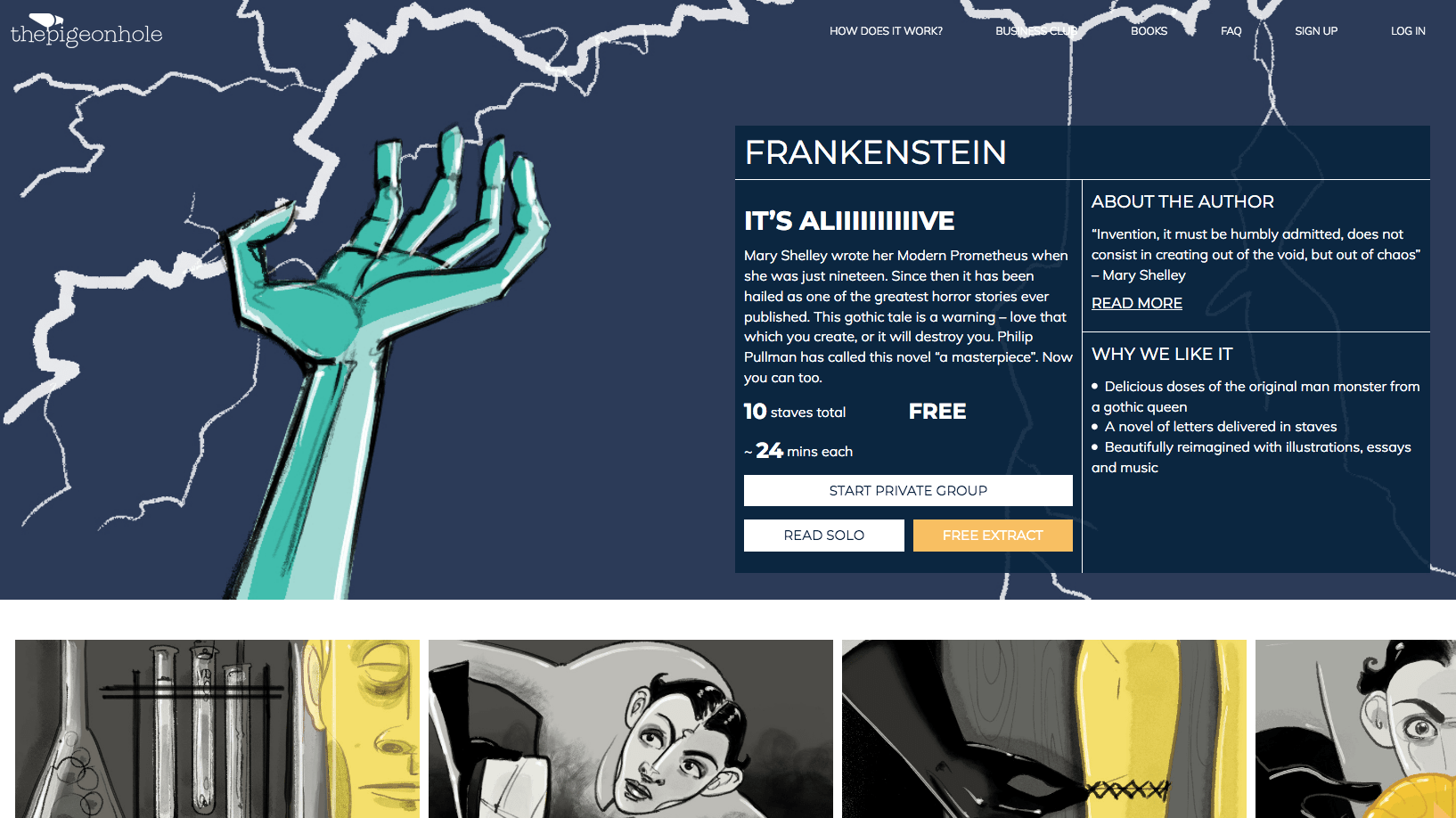 frankenstein - the pigeon hole - Series of illustrations for this classic piece featured online at The Pigeon Hole