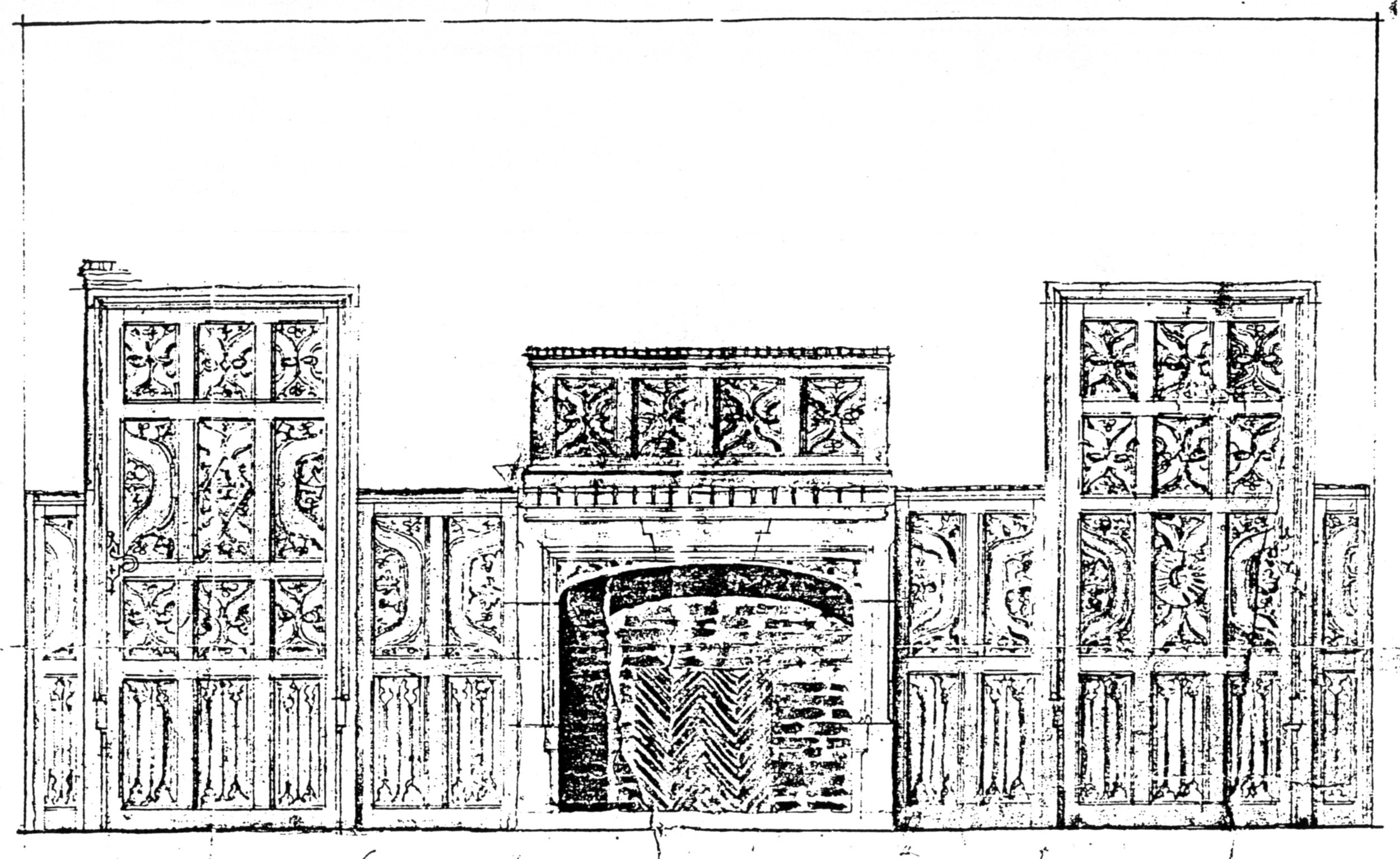 Diagram of the panelling.