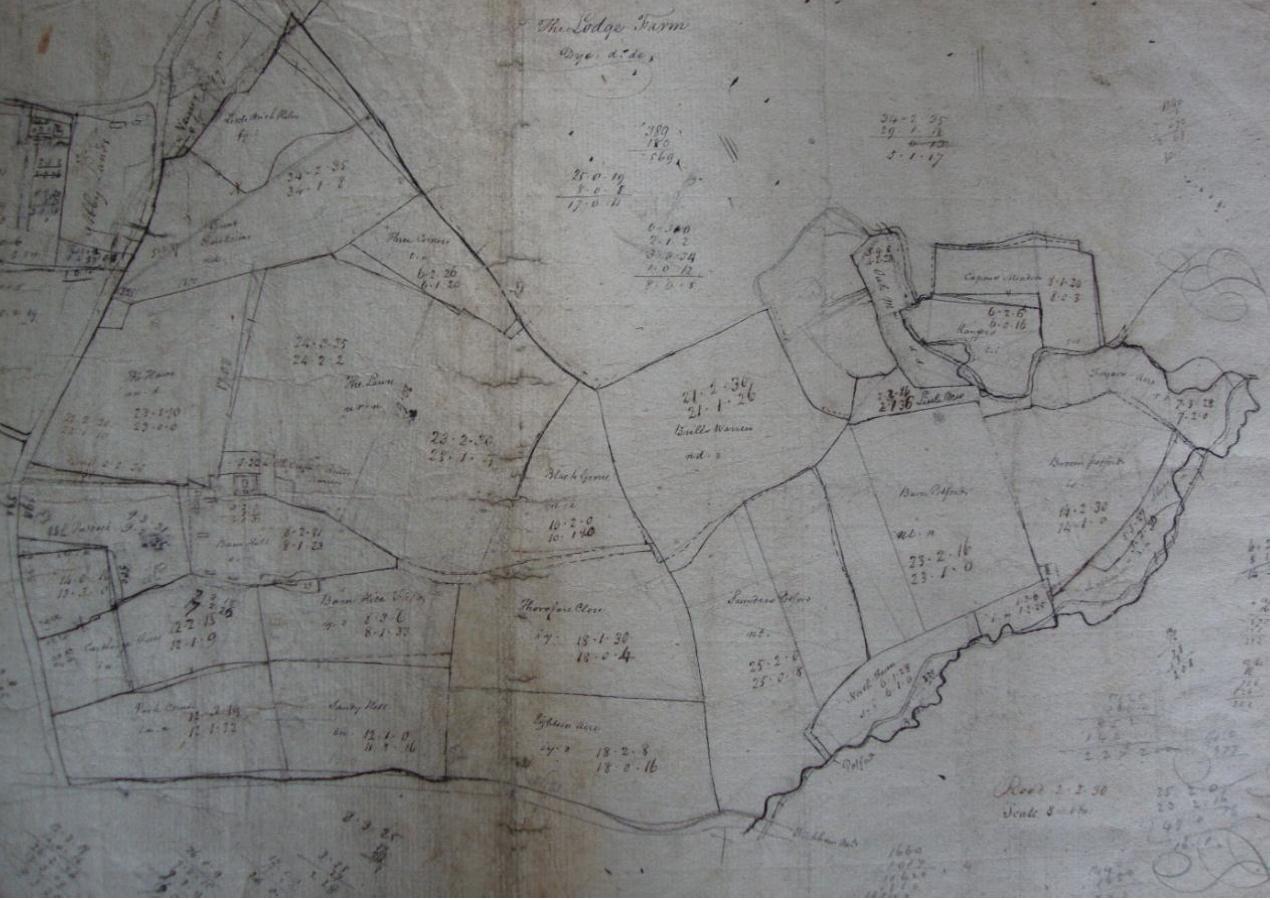 Fig.11 The Lodge Farm, 1790s (SROI, HD11.475/103)