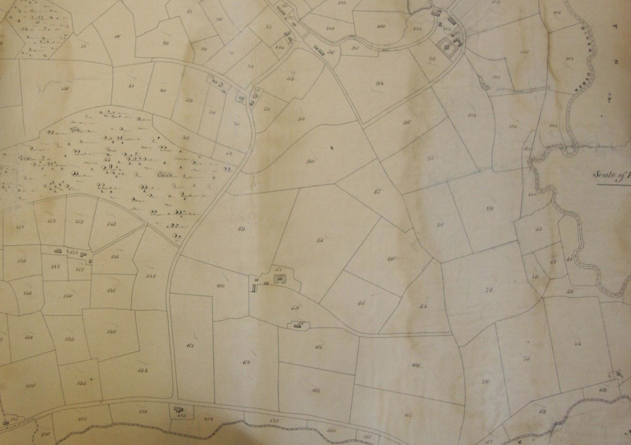 Fig.14 Parish of Letheringham Tithe Map, 1842 (SROI, FDA165/A1/1b)
