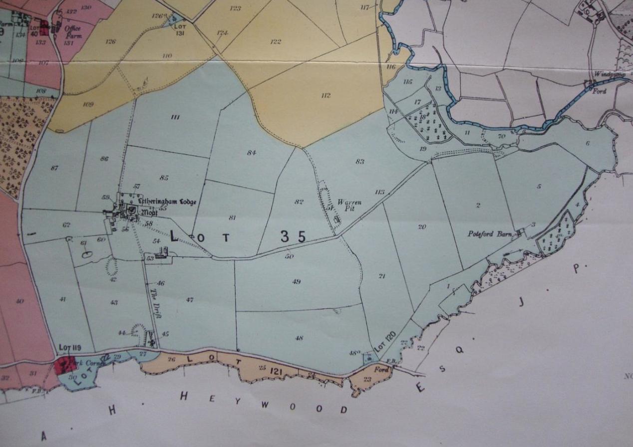 Fig.16 Letheringham Lodge, lot 35, 1919 (SROI, f SC142/1)