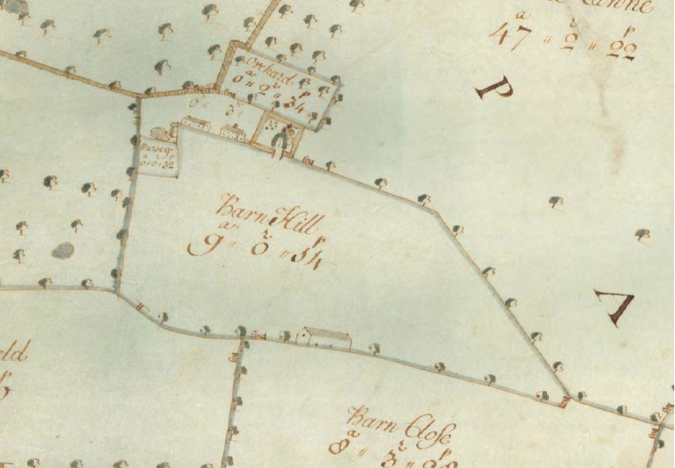 Fig.22 Letheringham Lodge Farm, surveyed 1732 by J. Kirby