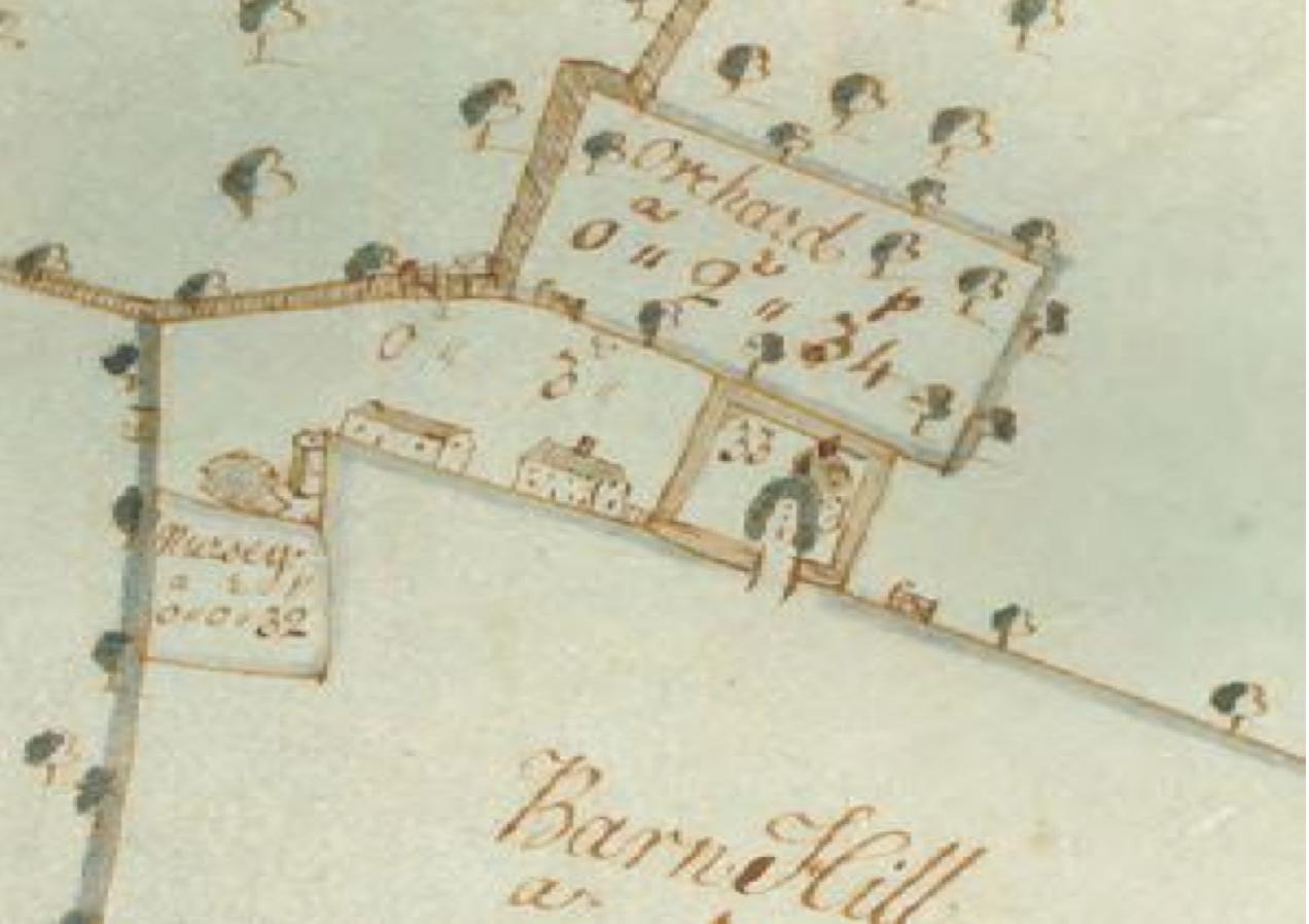 Fig.36 Letheringham Lodge Farm, surveyed 1732 by J. Kirby