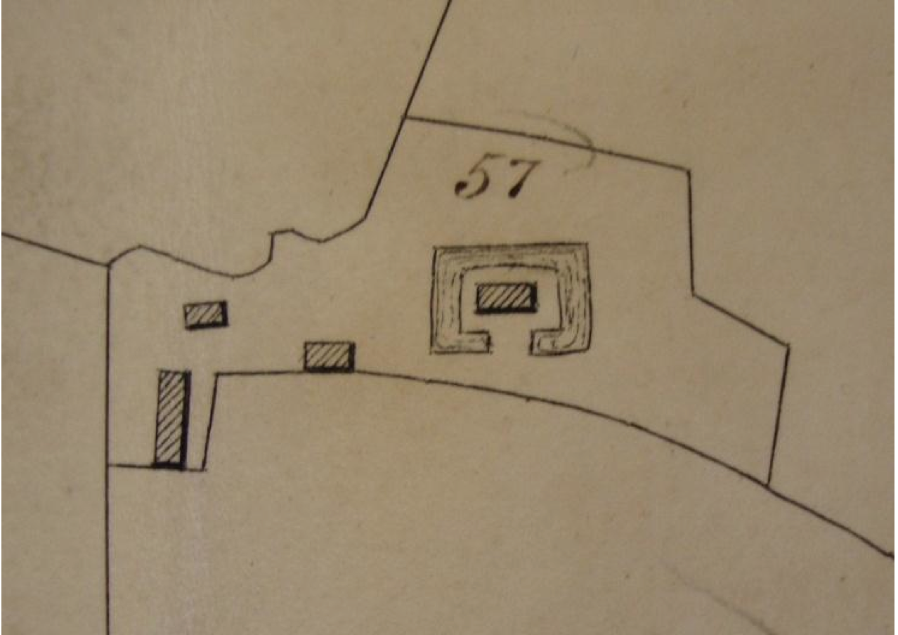 Fig.38 Parish of Letheringham Tithe Map, 1842 (SROI, FDA165/A1/1b)