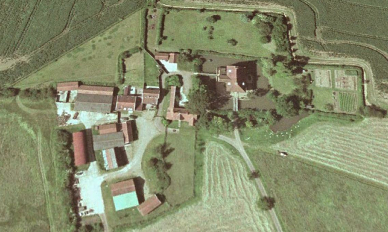 Fig.41 Aerial photograph of the building group, December 2000