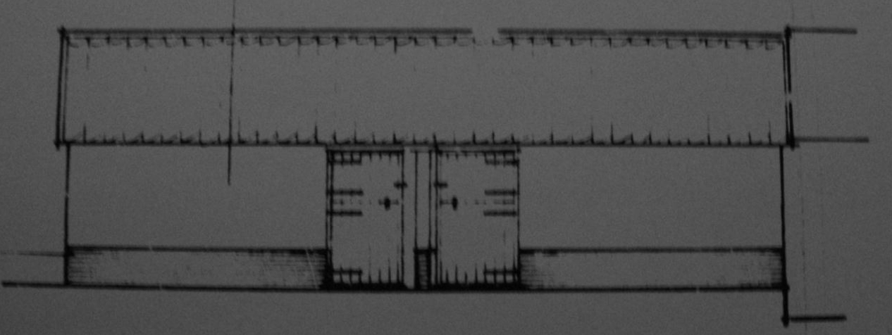 Fig.52   Loose boxes ('existing' S   elev., building 12, C/91/0962)