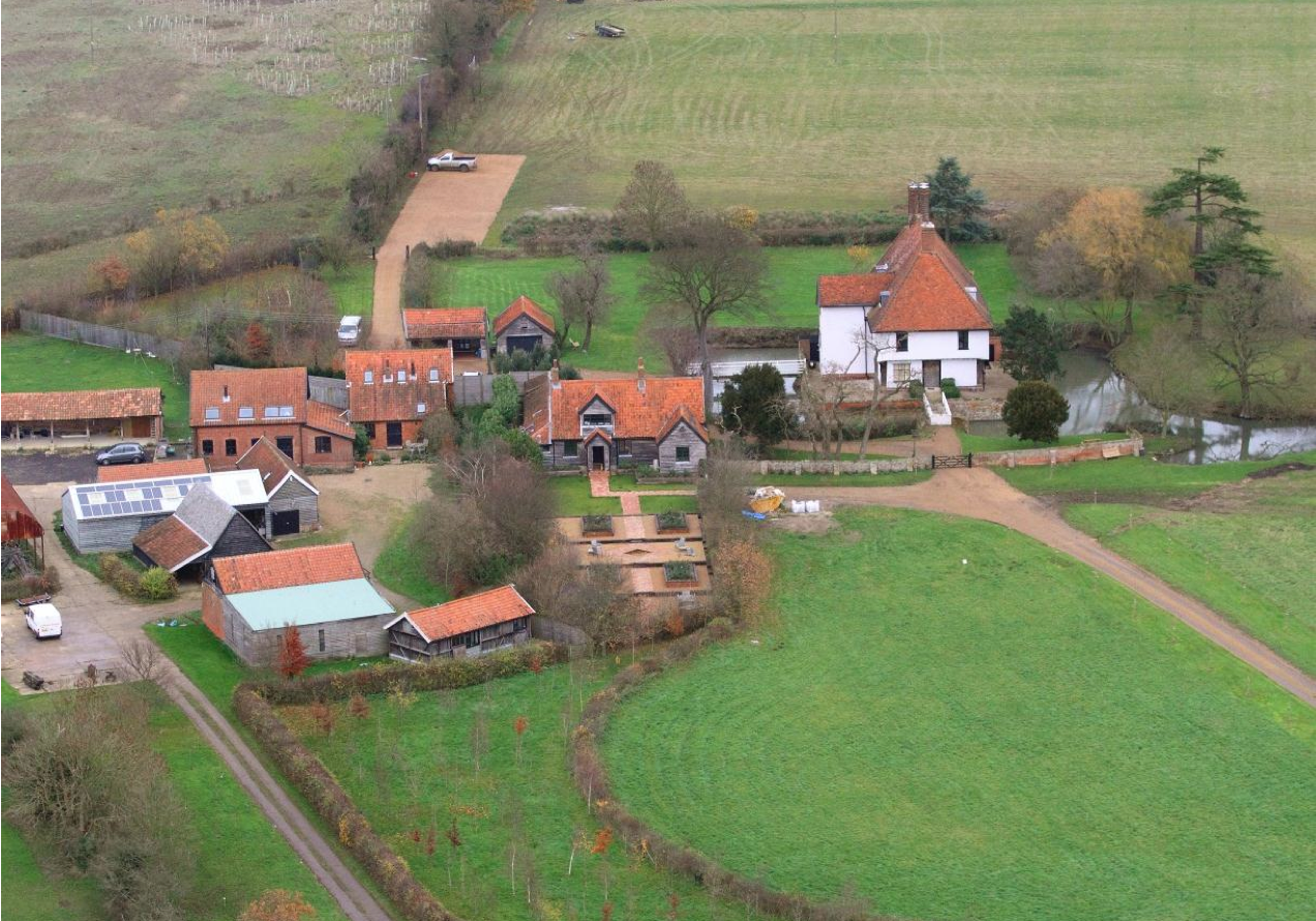 Fig.60 View of Letheringham Lodge and adj. building group from S