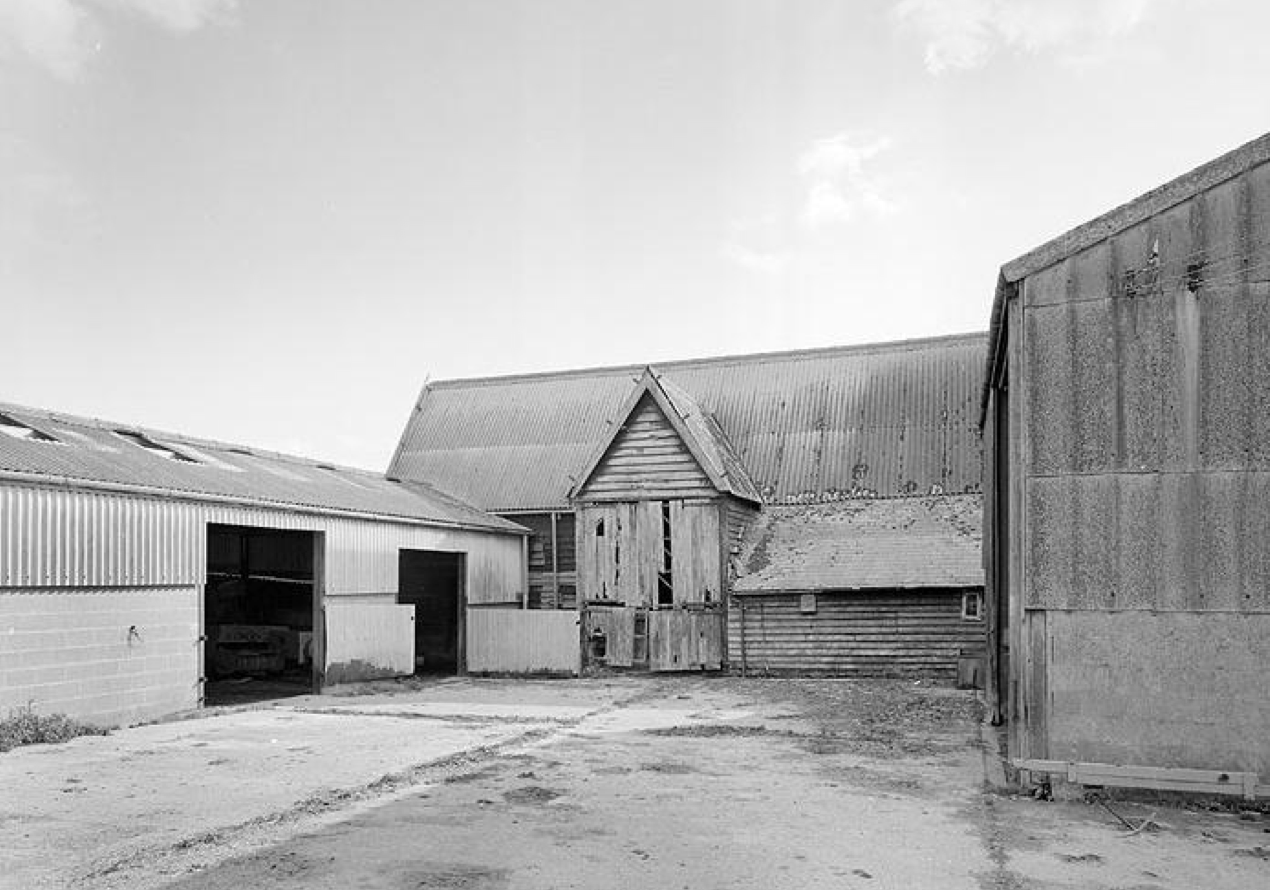 Fig.64 View of north elevation of Barn, 1988 (EH Archive, BB92.29103)