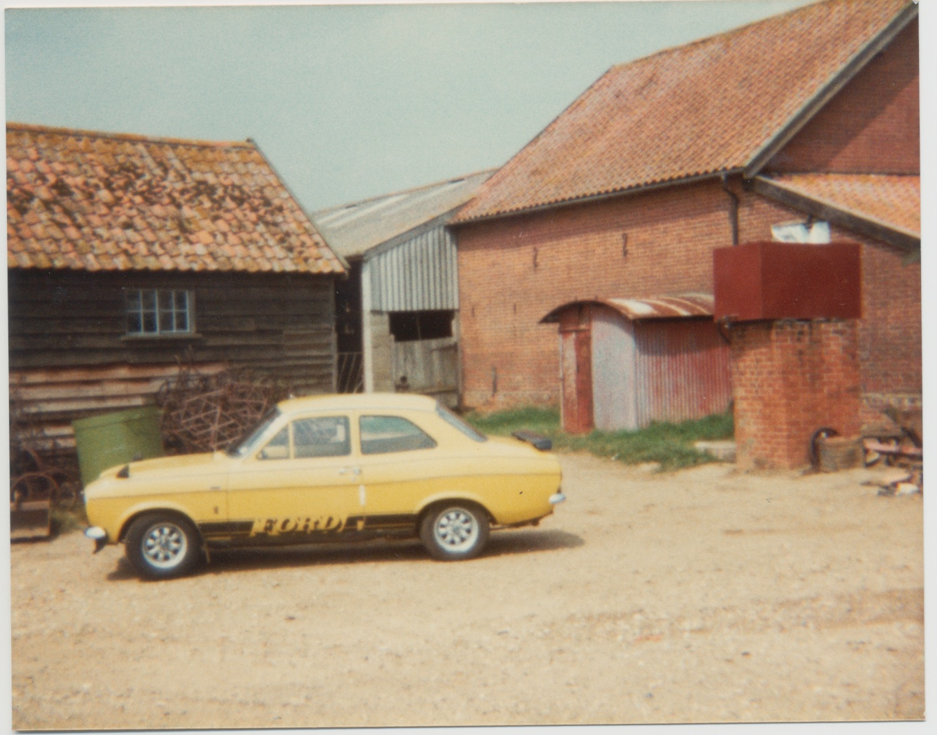 View of victorian barns to the west of Lodge/Chestnut Cottage in the early 70's