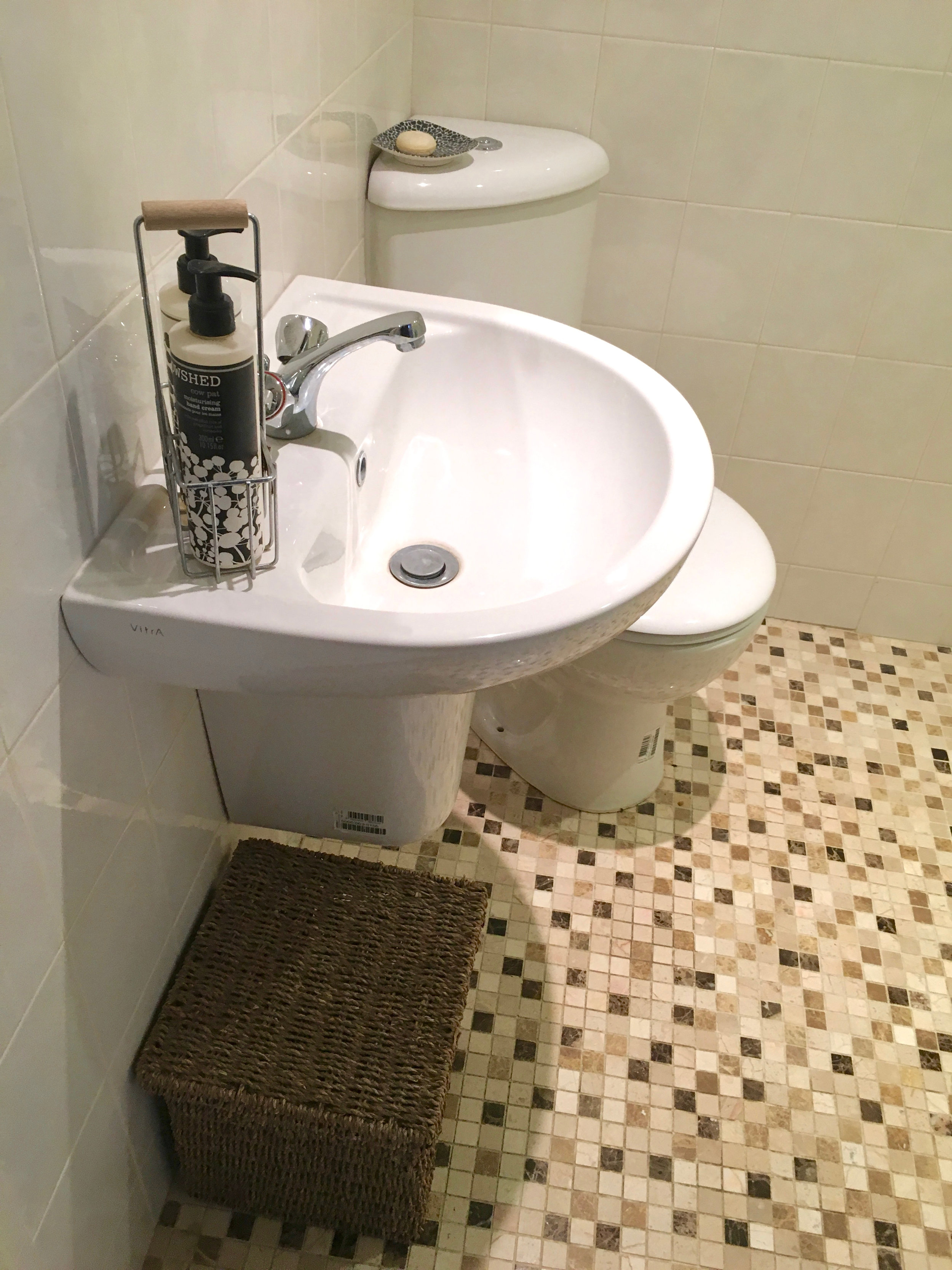 Downstairs wet room with shower