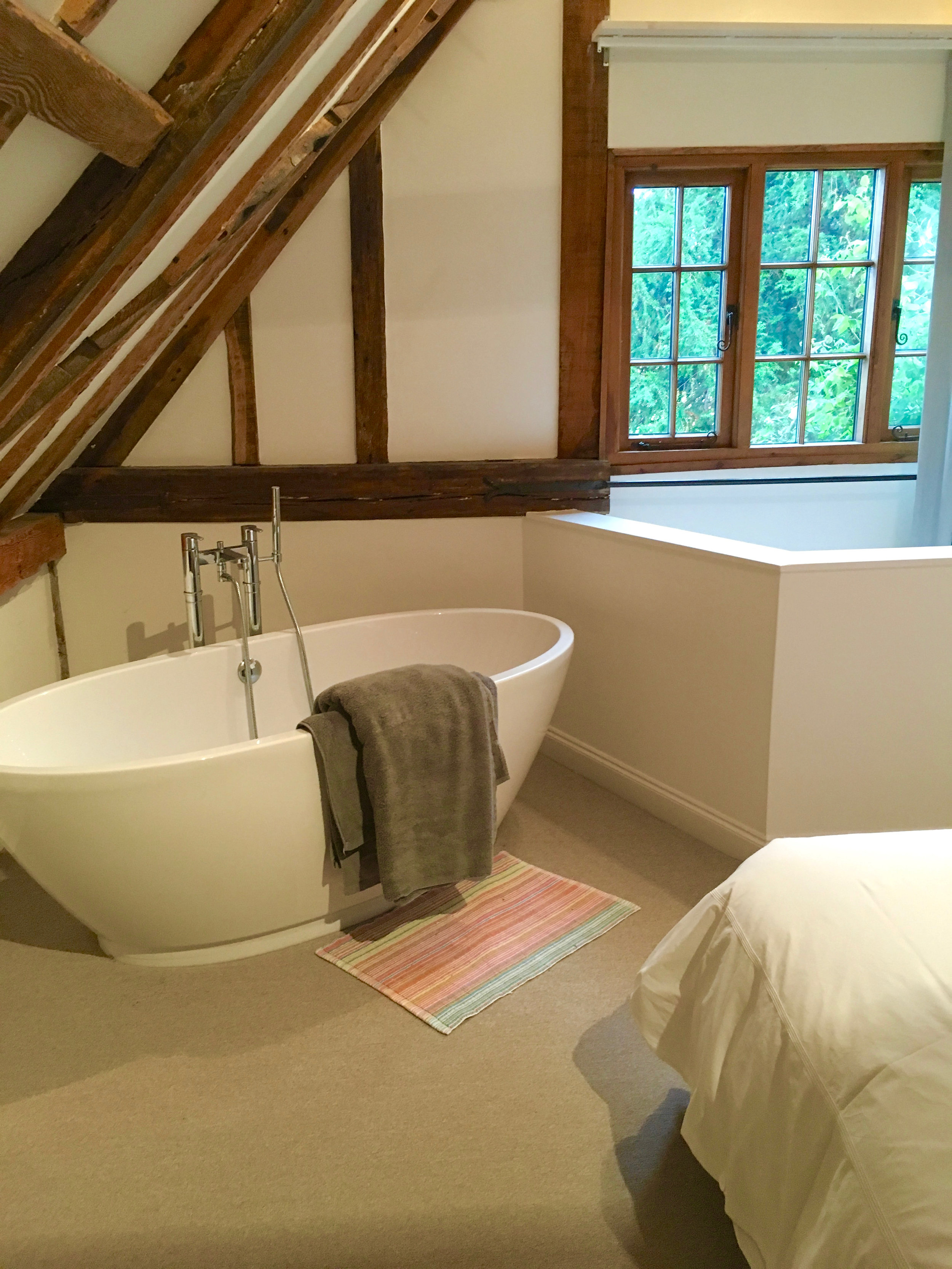 Bath in the bedroom upstairs