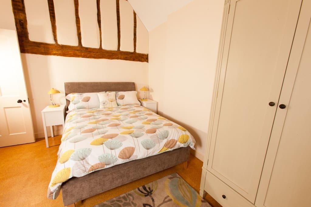 Luxury mattress and garden view