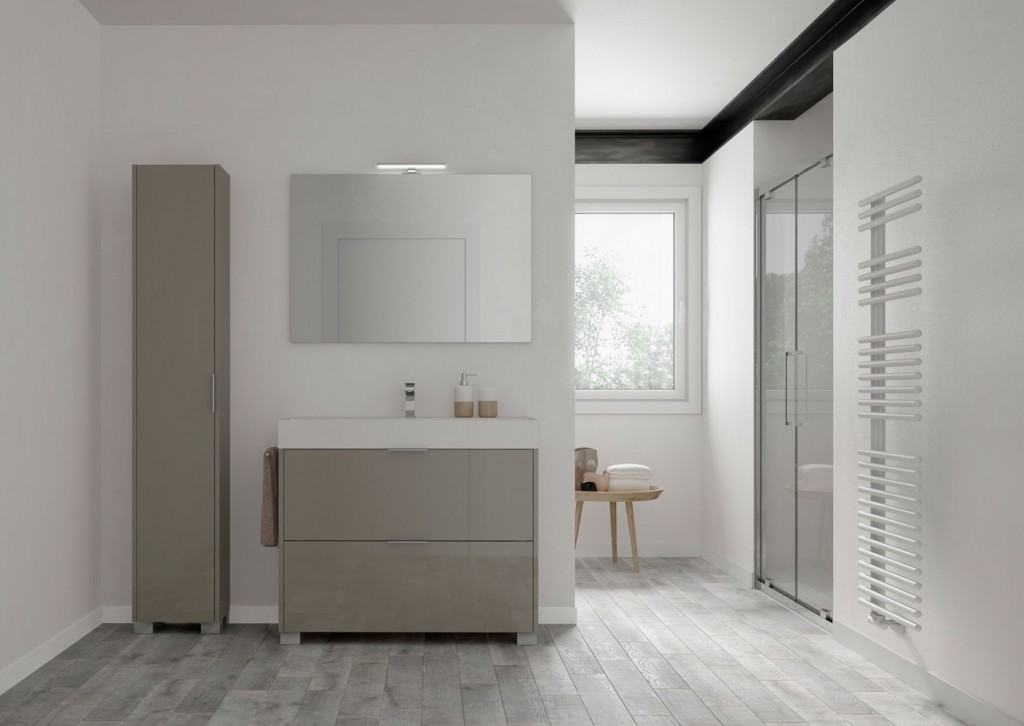 small standing bathroom vanity with standing bathroom storage unit