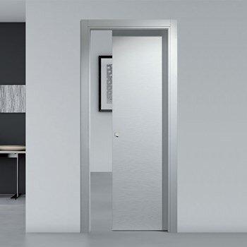 sliding gray interior door