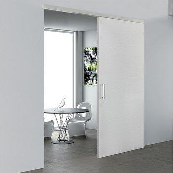 Sliding interior door in white