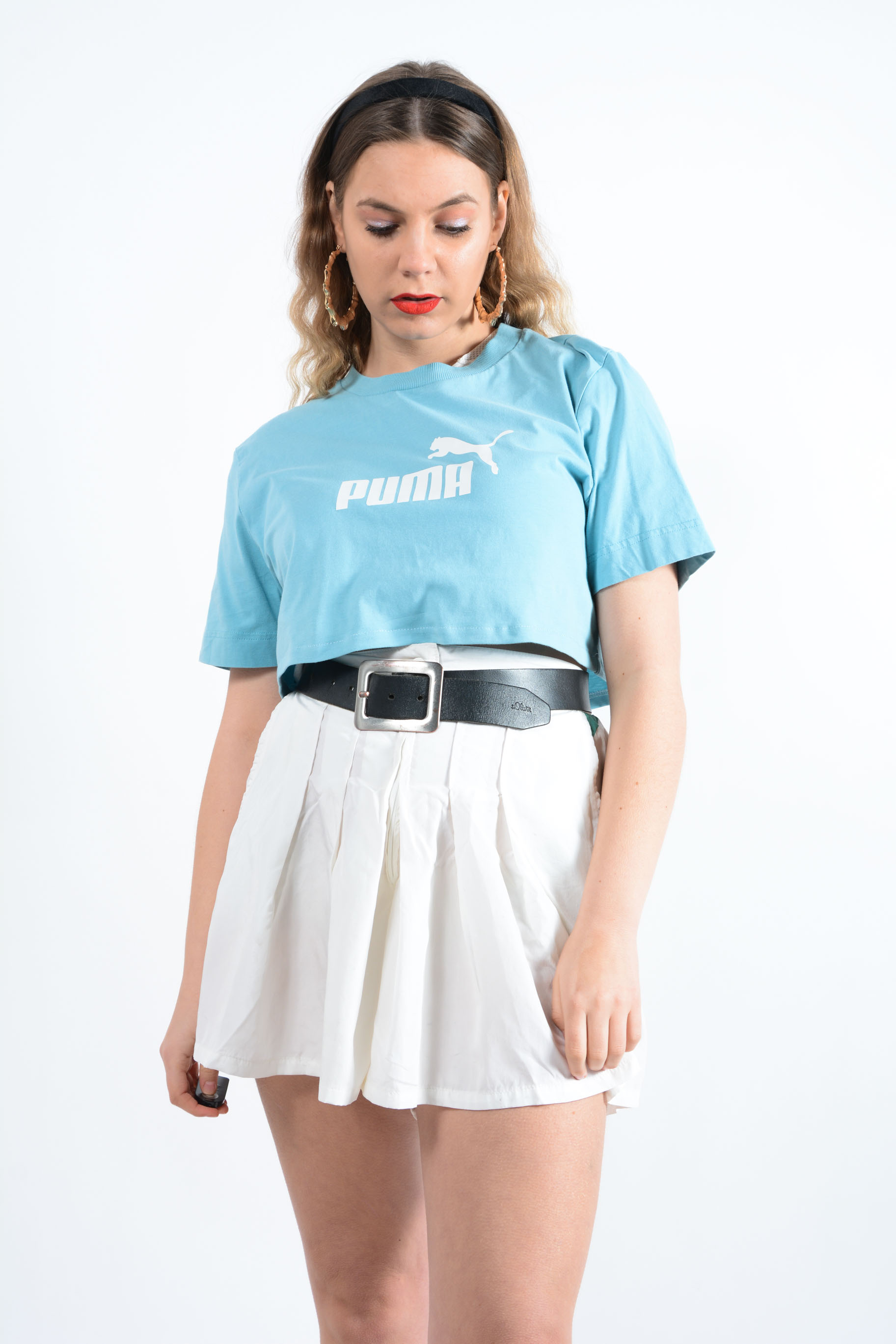 cropped puma t-shirt