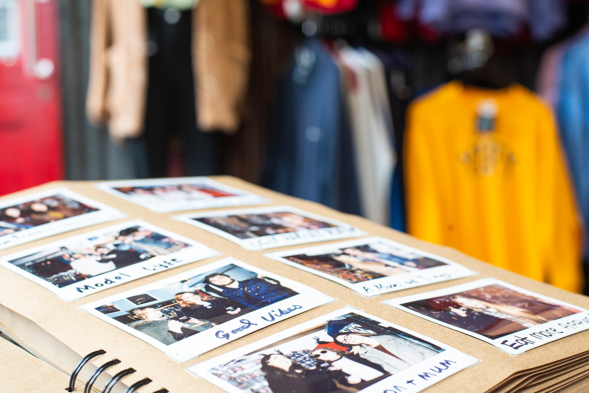 The BDV polaroid photo album, featuring some of our most loved and regular customers.
