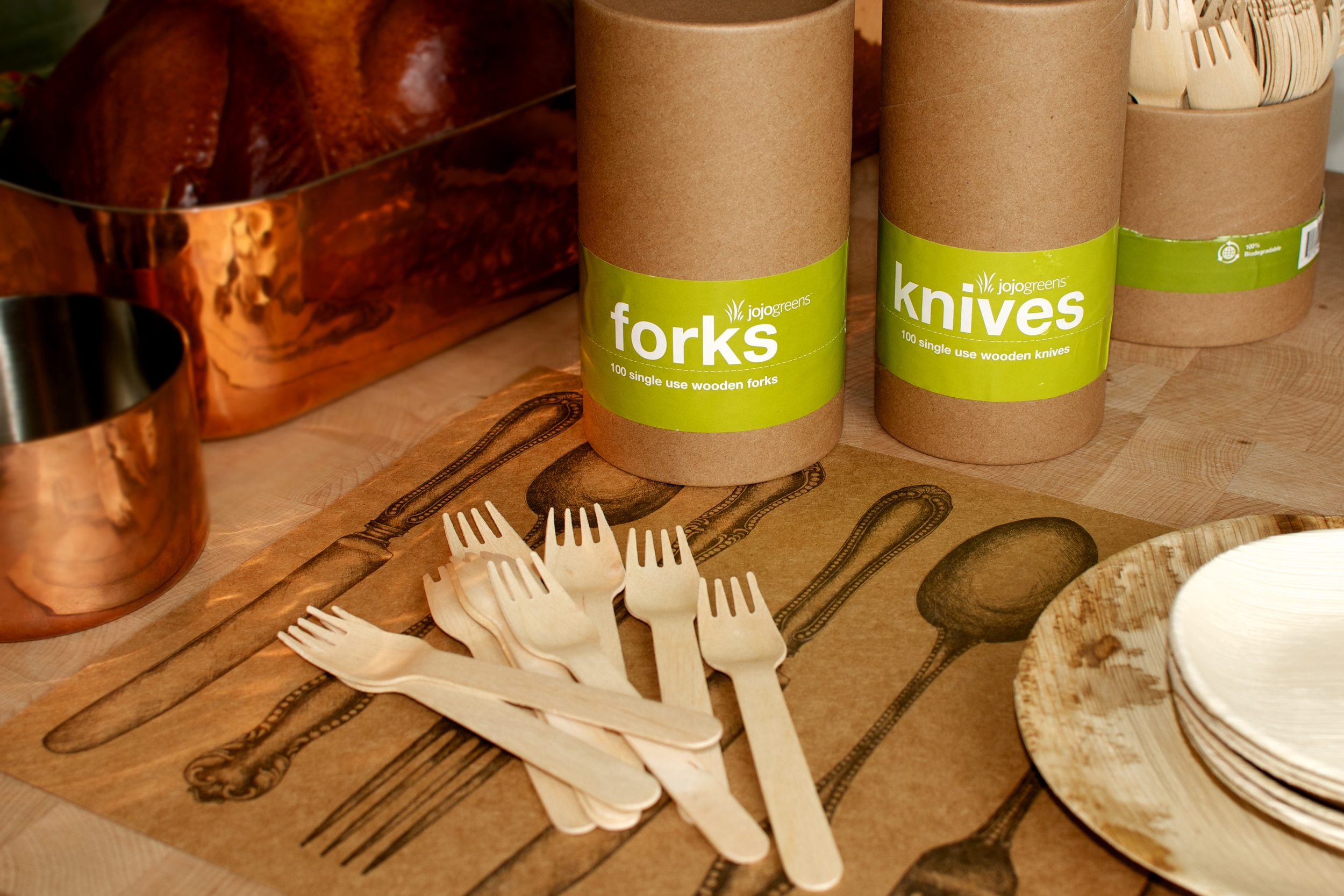 Natural Birch Disposable Utensils
