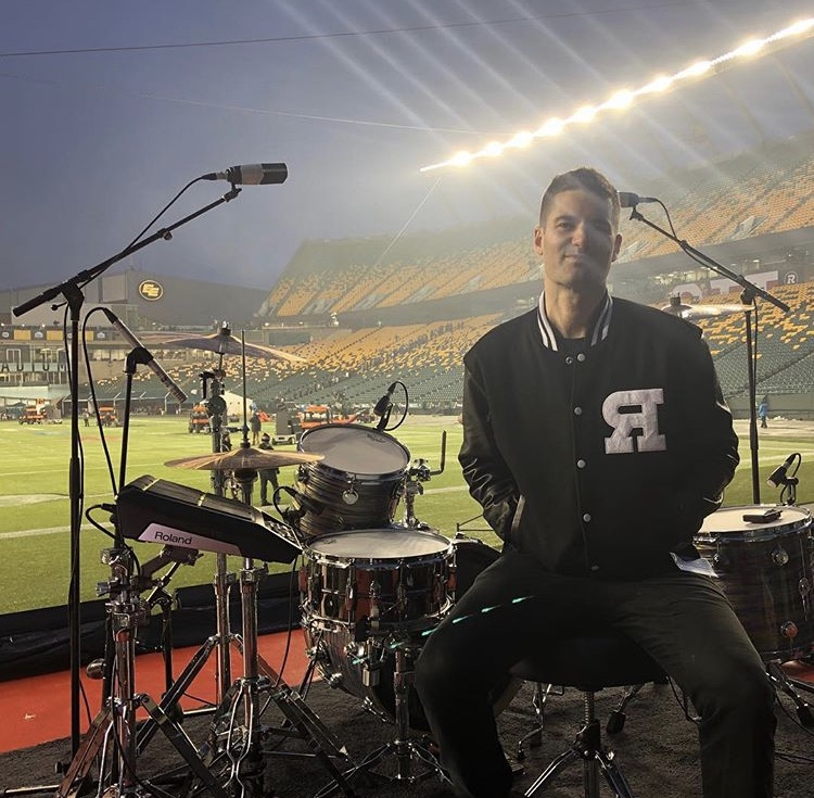 Post soundcheck at the Grey Cup in Edmonton with The Reklaws November 2018