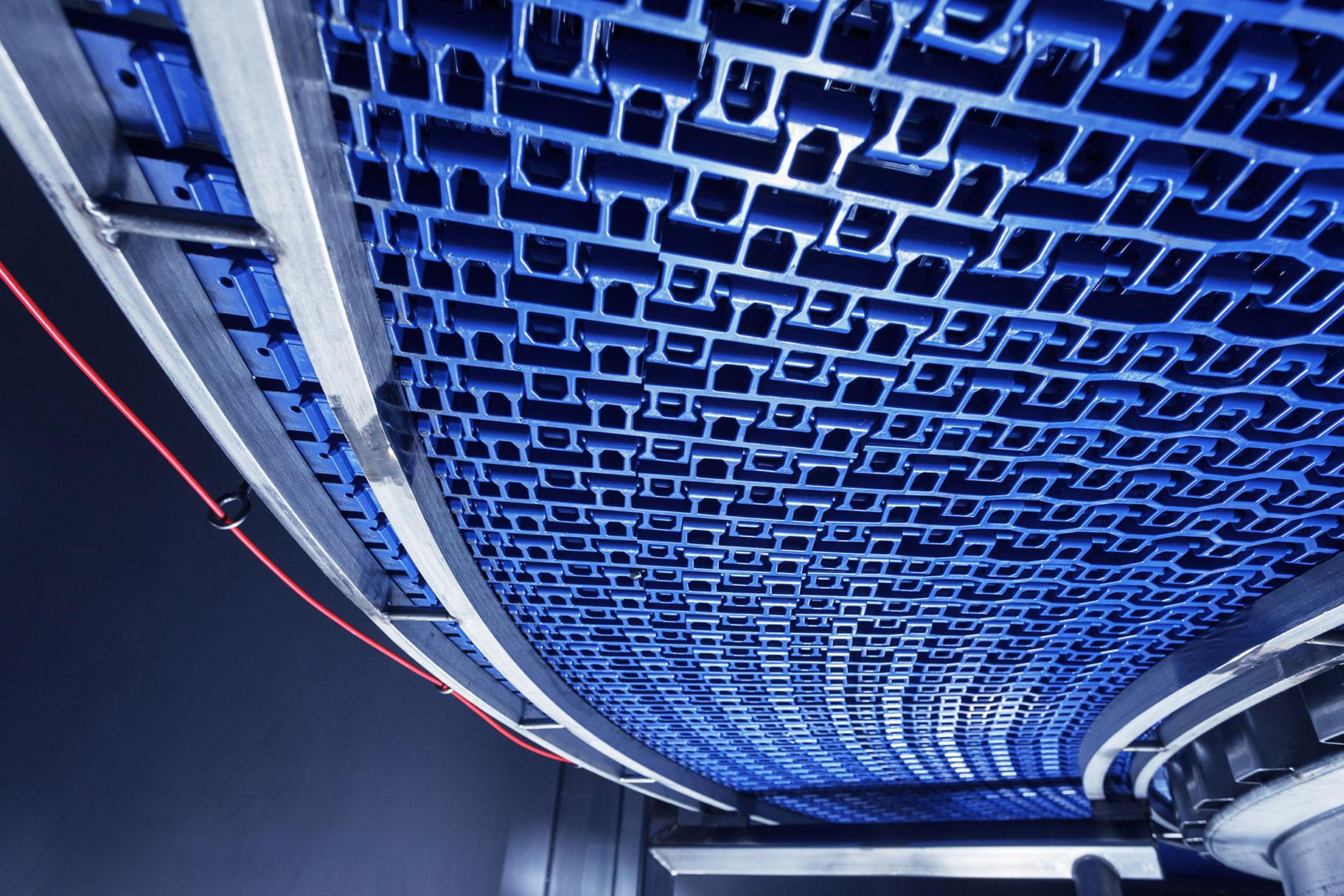 fps spiral interior hygienic belt rail support