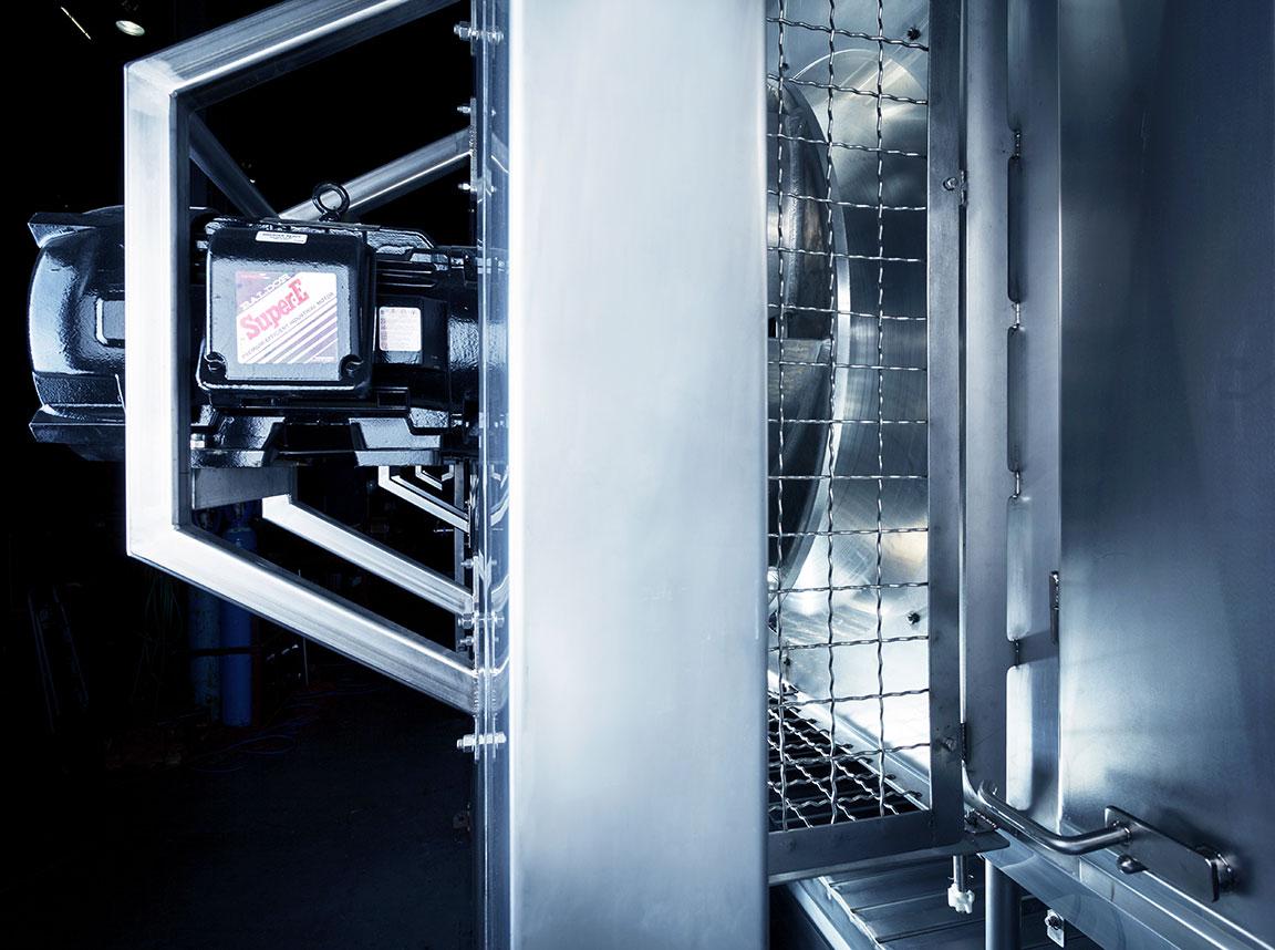 fps impingement external mounted fan motors