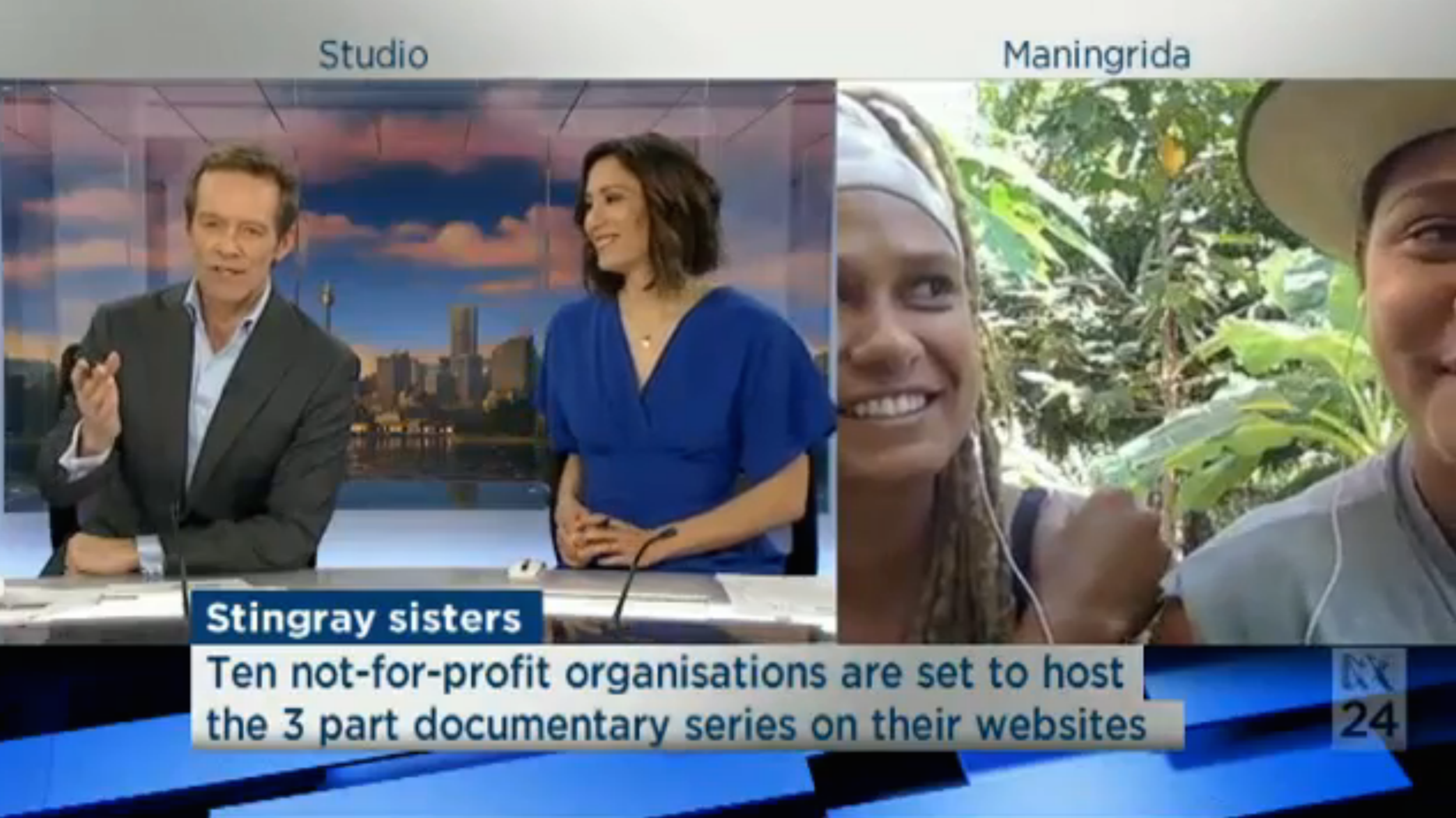 Alice and Grace Eather on ABC News Weekend Breakfast