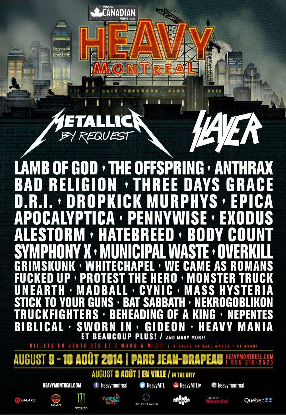 Heavy MTL lineup