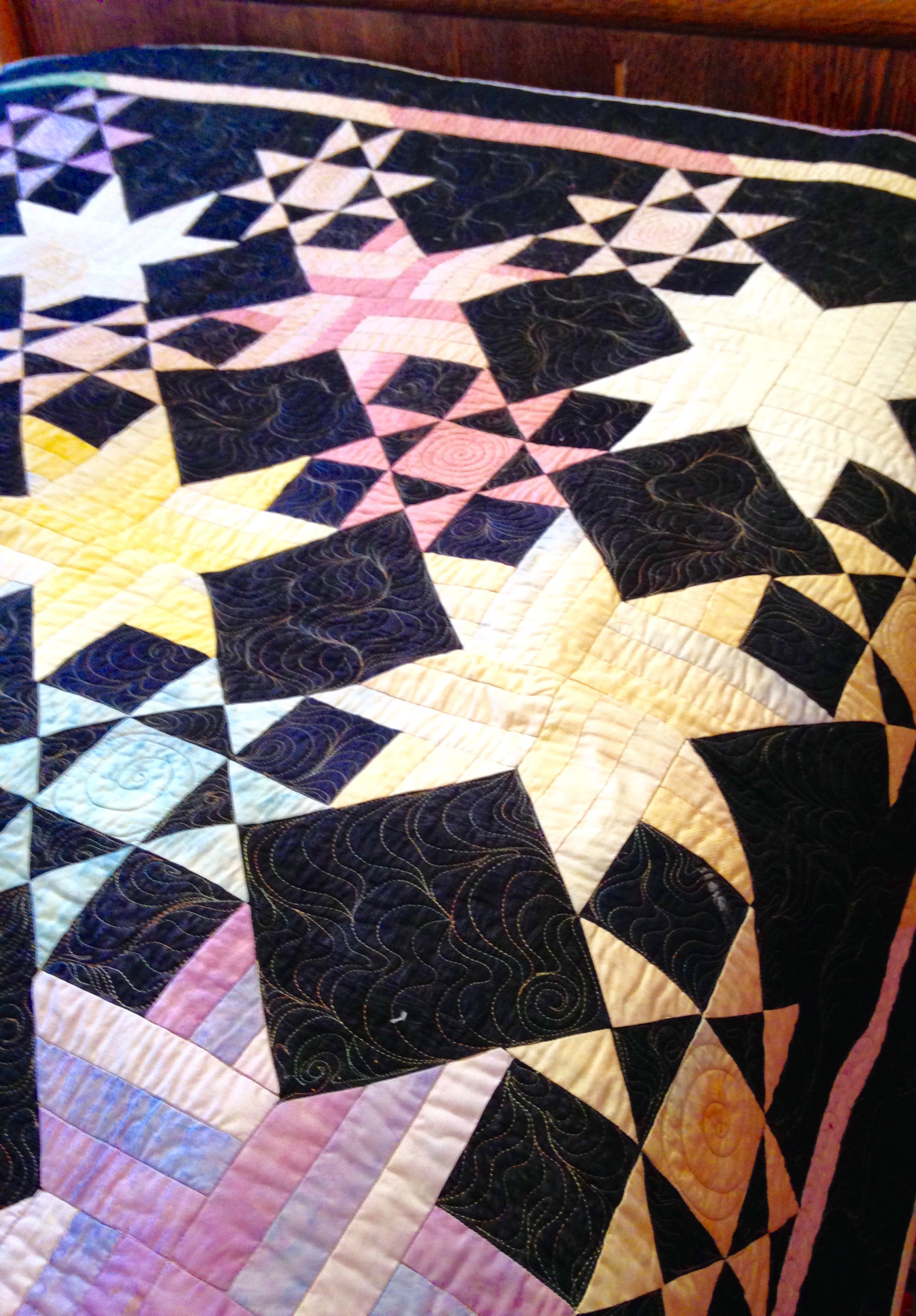 'Starry Night' double bed quilt