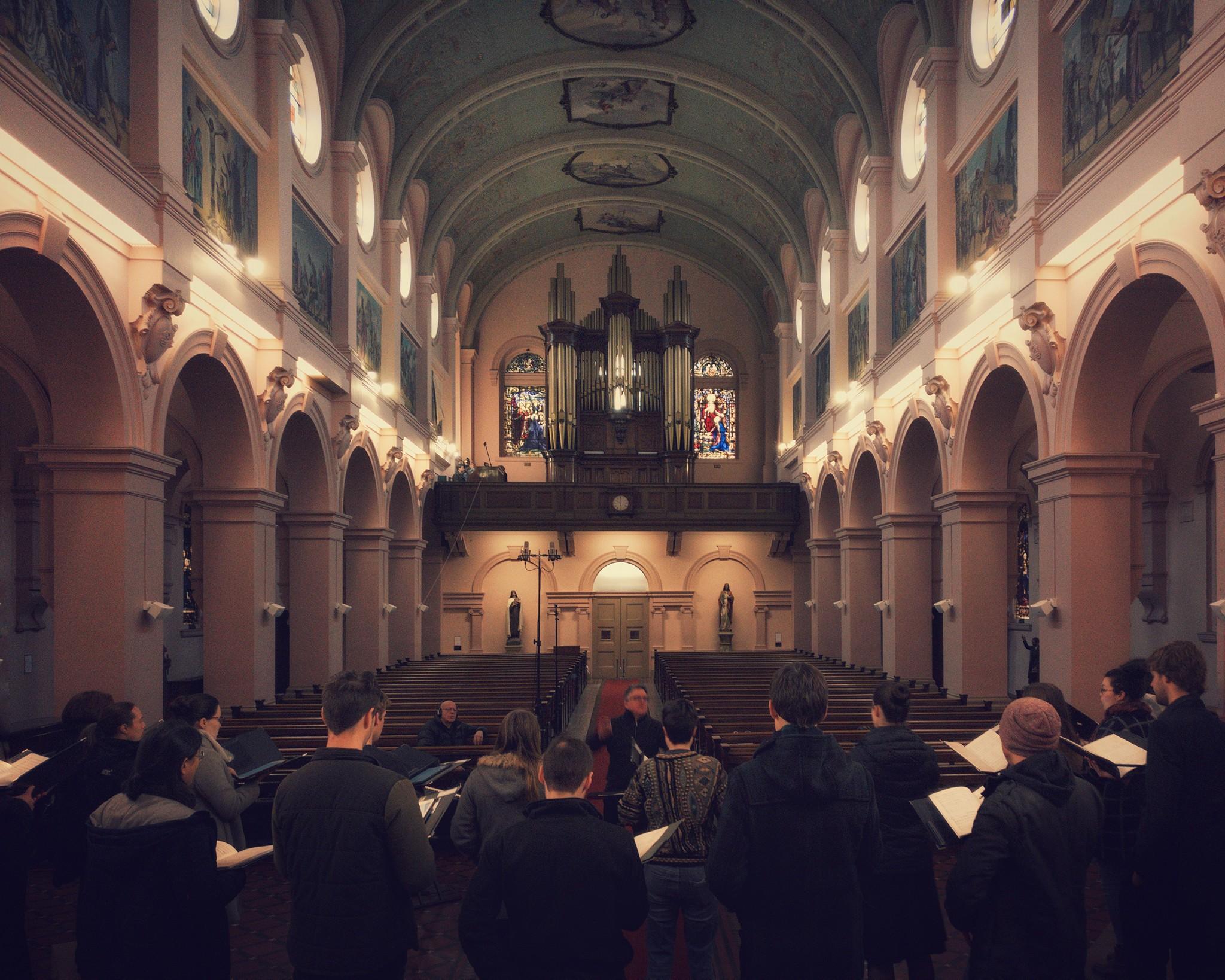 Salut Paris, rehearsing at Sacred Heart, Carlton