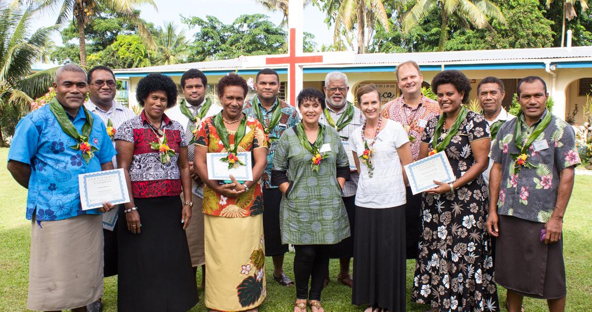 Facilitators completing the Trauma Healing Advanced Training Class.