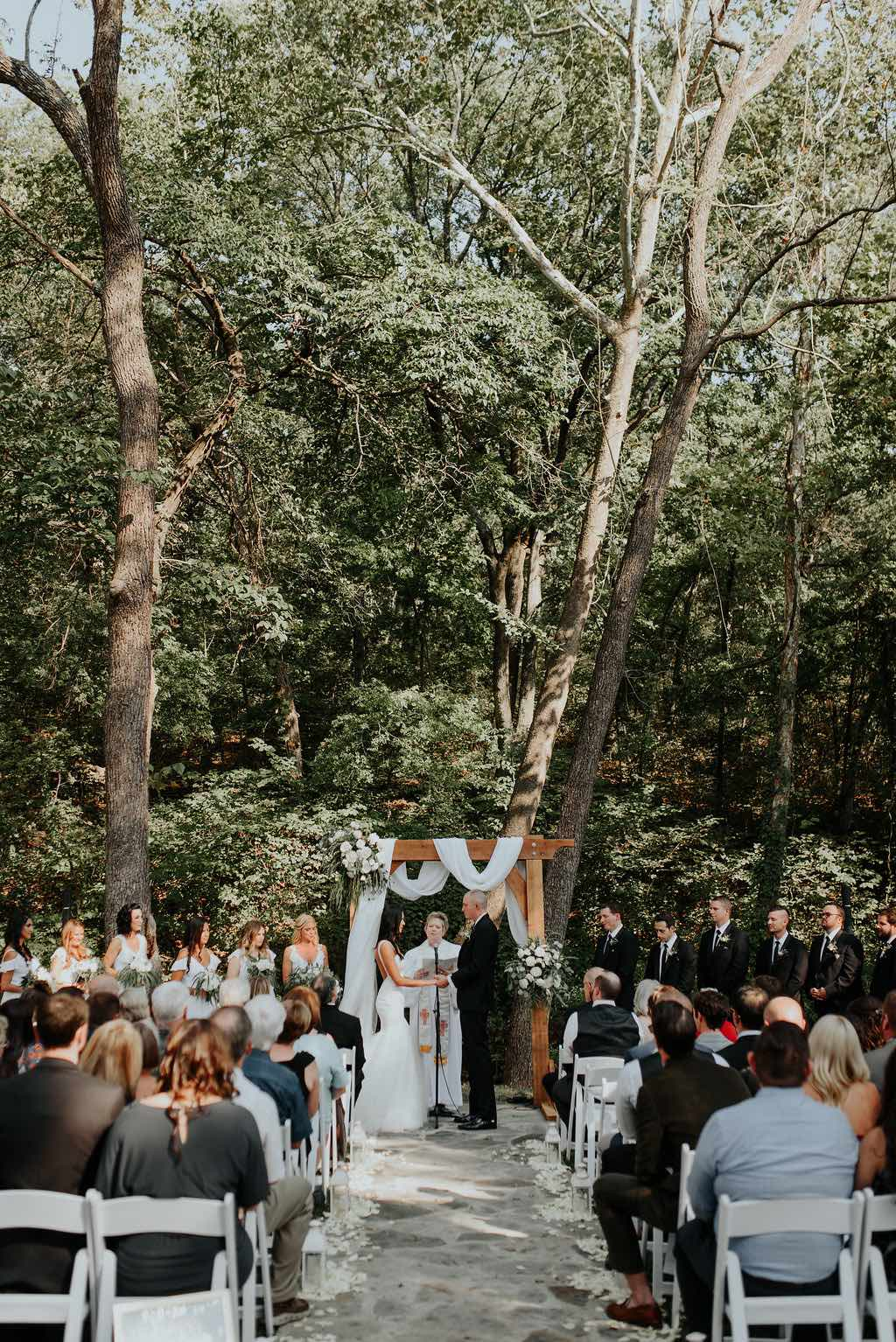 White Barn Courtyard Ceremony