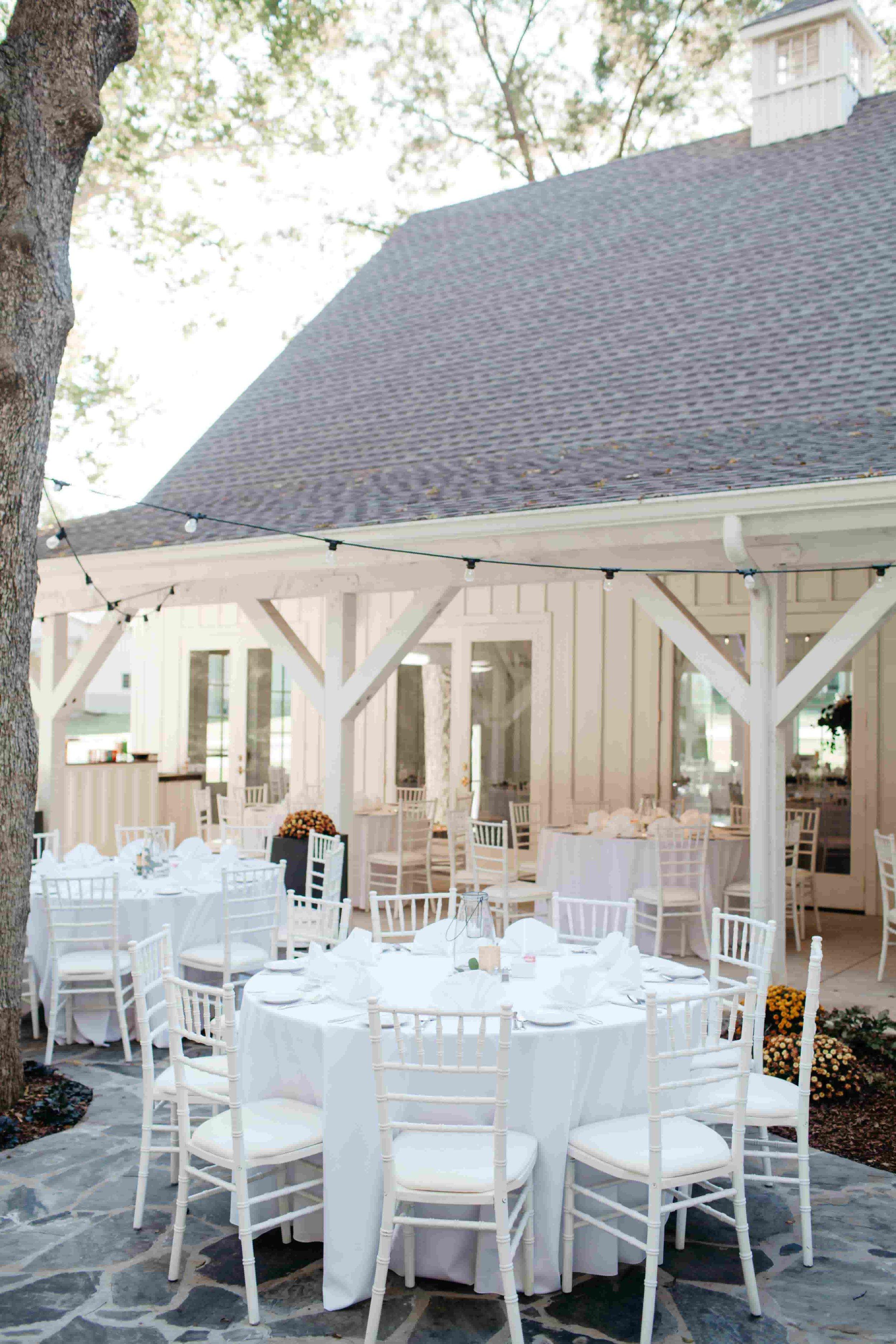 Courtyard Reception in October