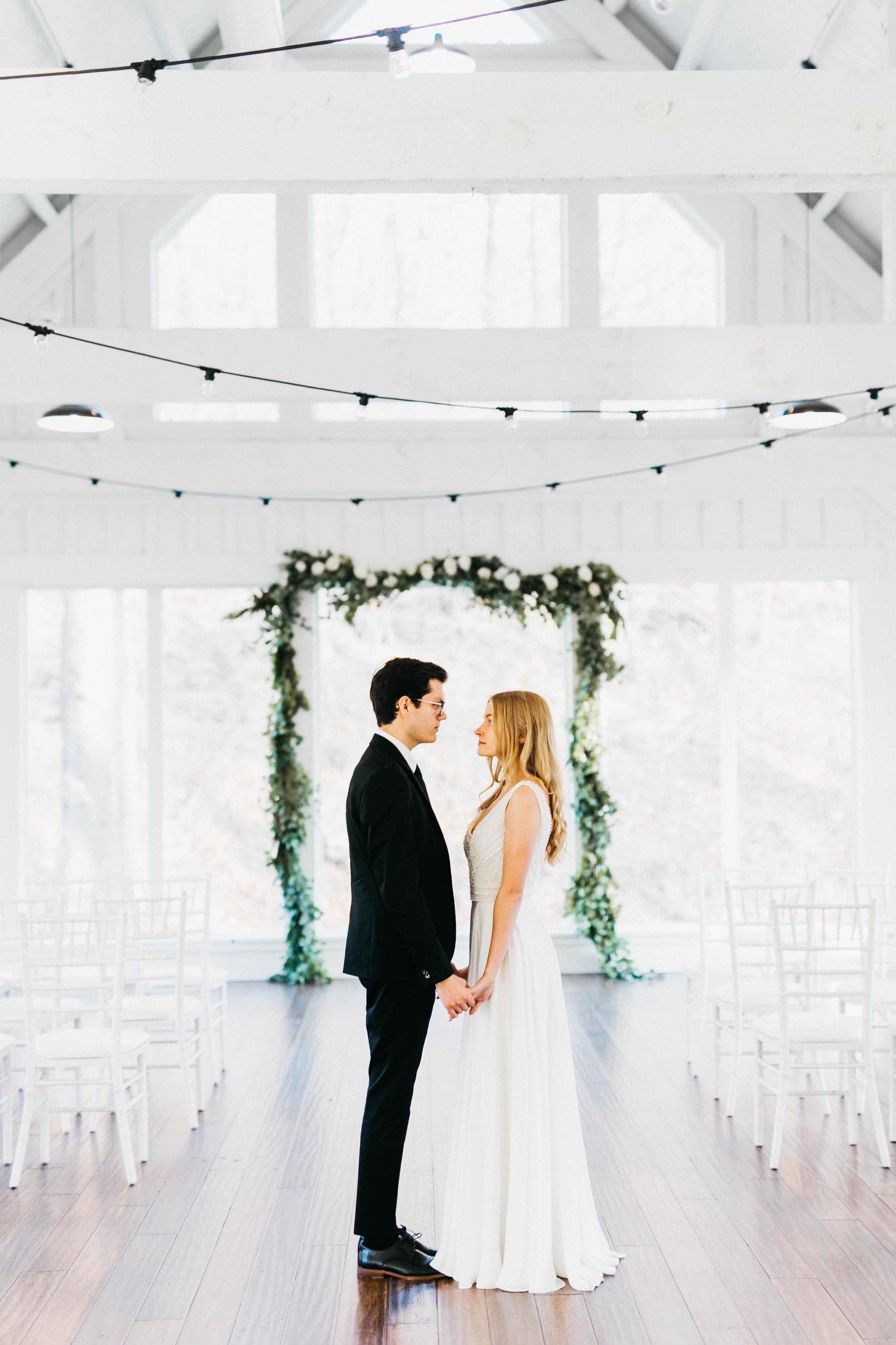 White Barn Elopement in Winter