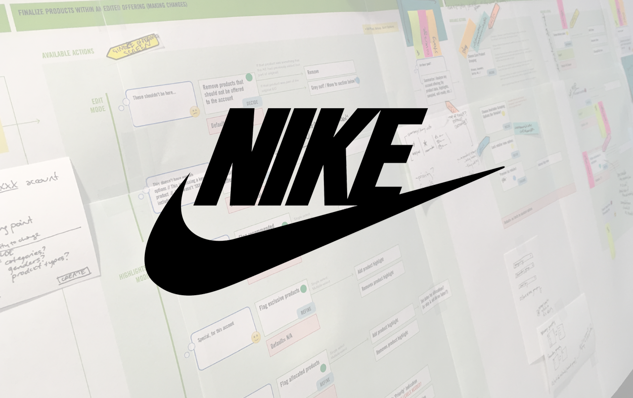 Nike Experience Mapping - Digital site experience that helped sales reps organize product recommendationss. View Work