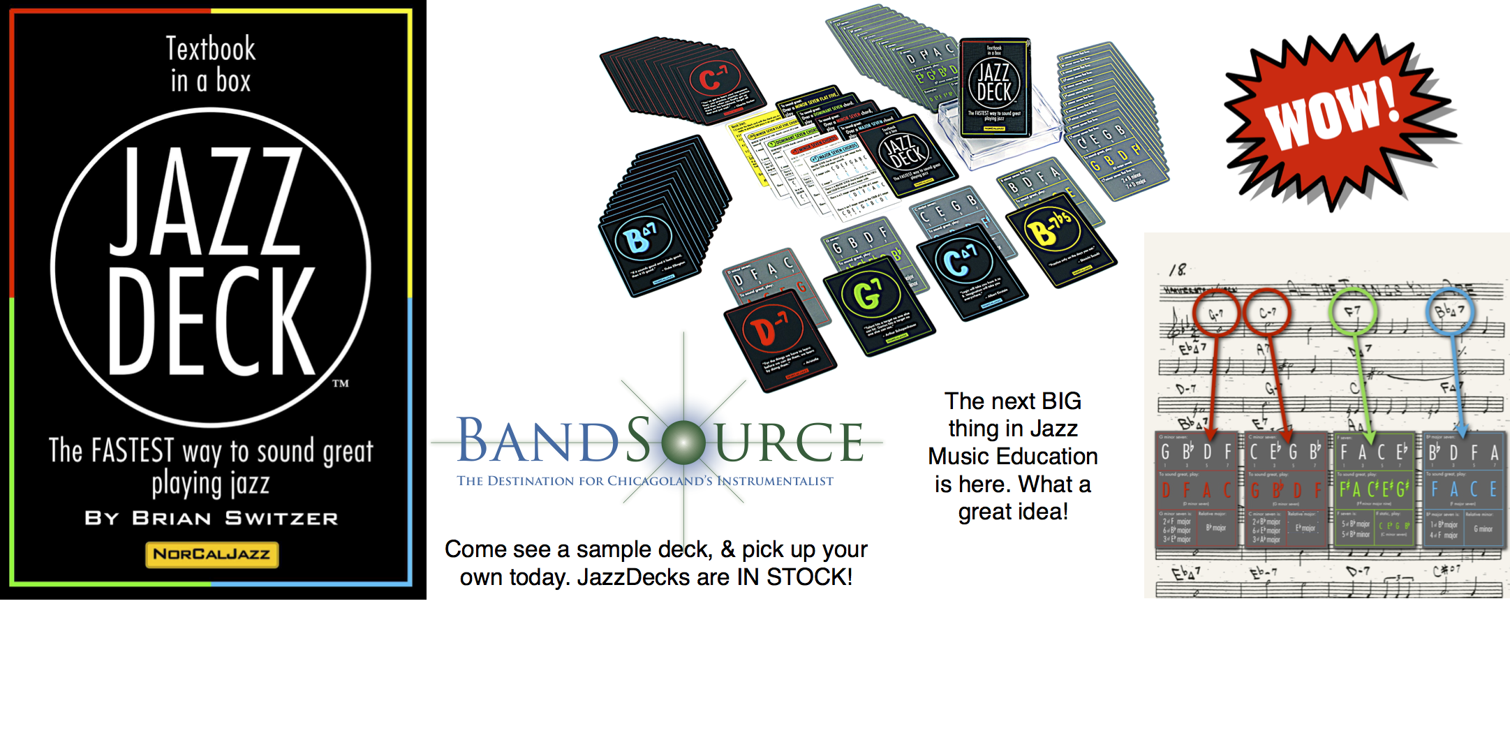 JazzDeck online banner sample. Created by BandSource in Illinois.