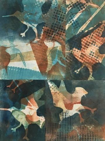 Bar-Tailed Godwits_Monotype_Helene Leane.JPG