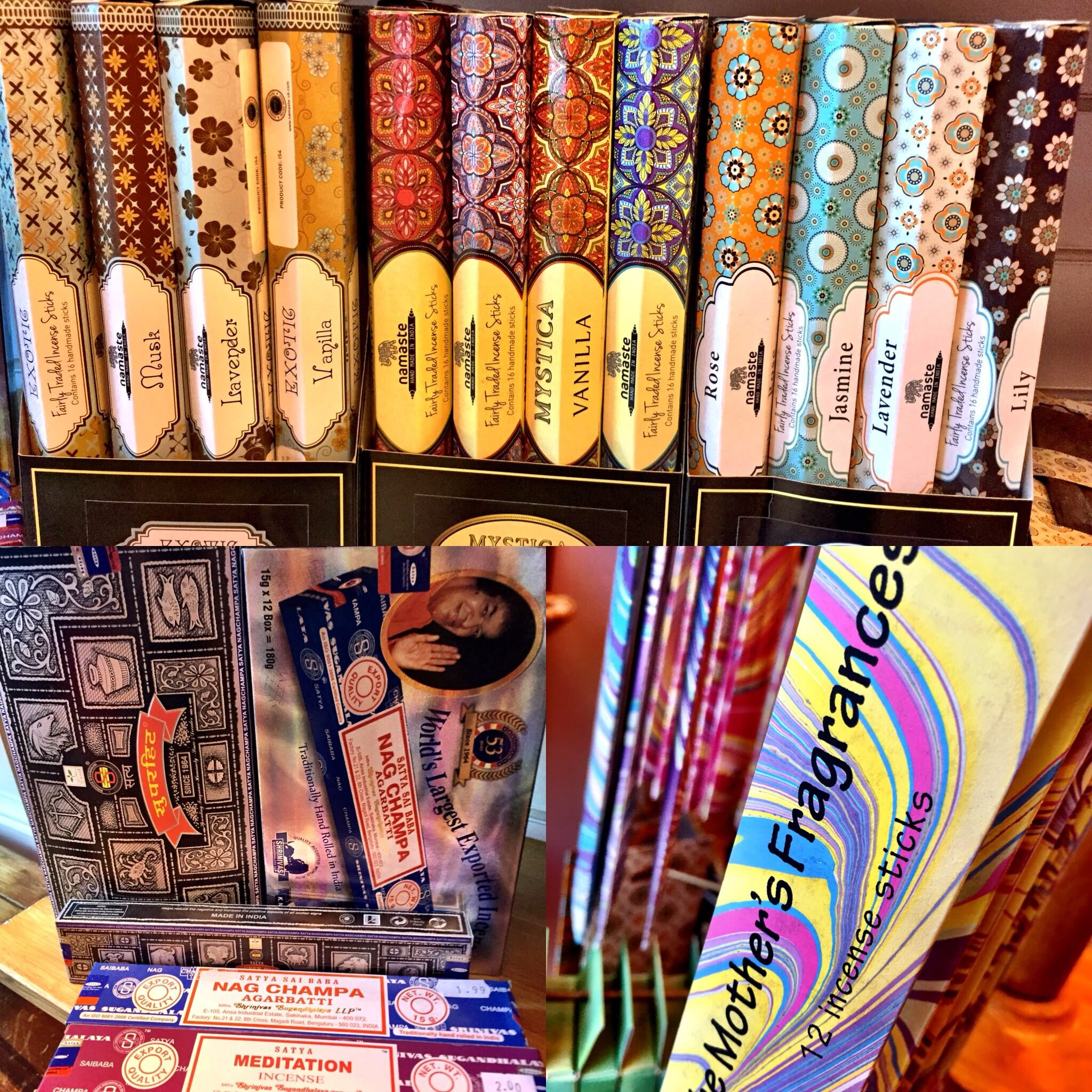 A wide range of incense at SUSSED