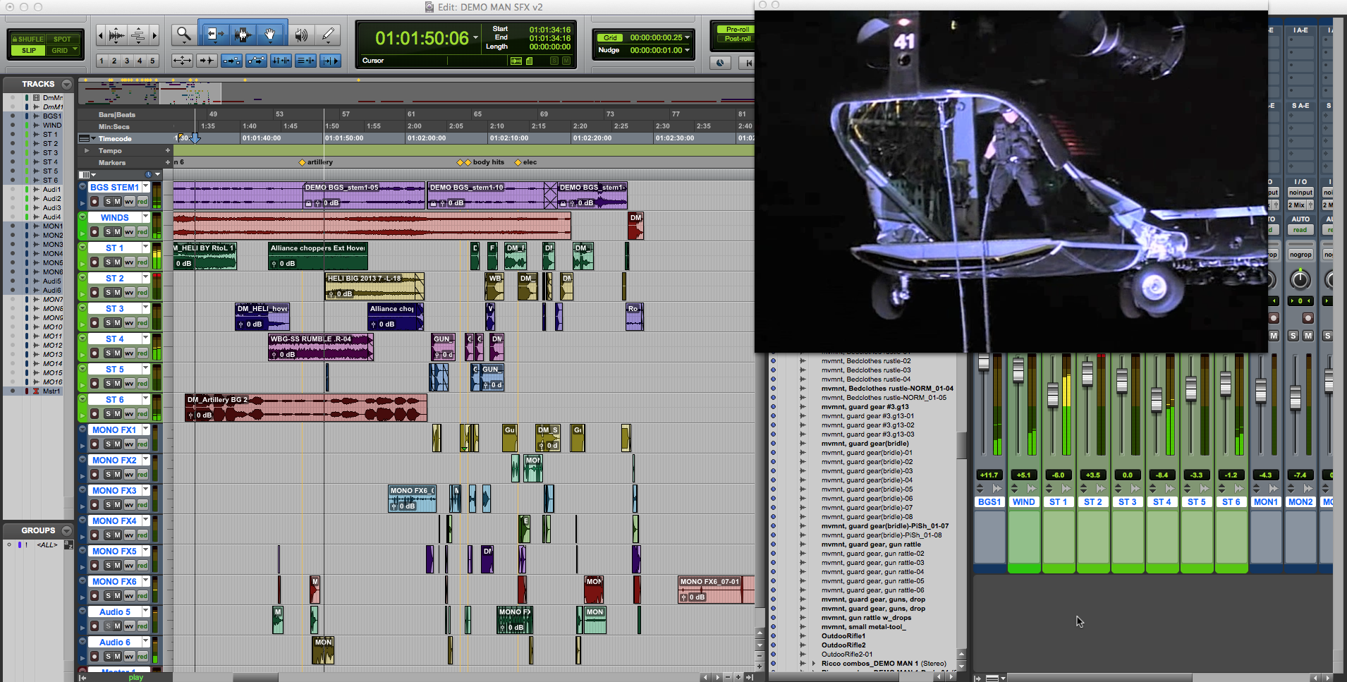 Sound FX, Foley, Mixing and Editing