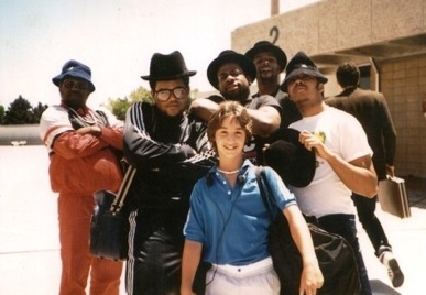 Young Rob Principe with Run-D.M.C.