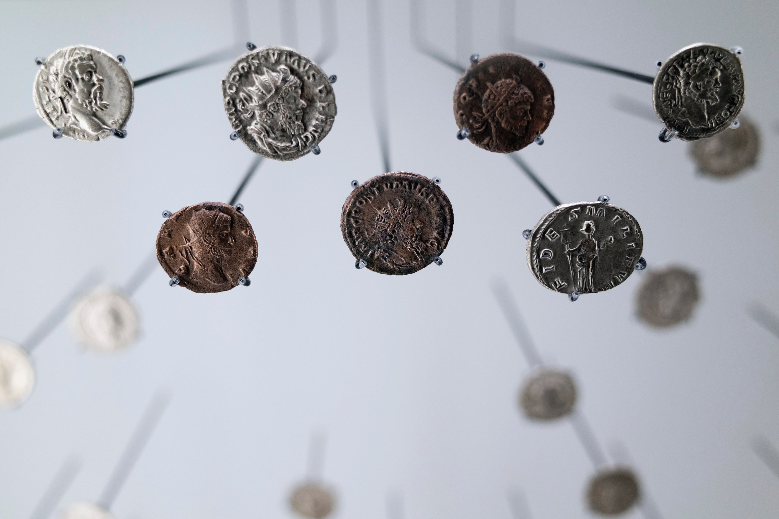 Old coins from the Roman Empire