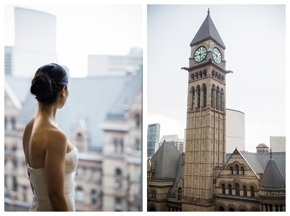 Arcadian Court, wedding, classic, modern, intimate, urban, bride, window, Toronto, city hall, old city hall,
