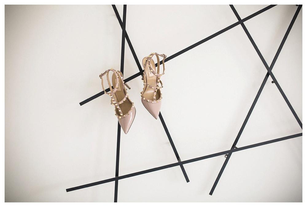 White Toronto, luxe, wedding, wedding shoes, Gardiner Museum, 99 Sudbury, Ashley Lindzon, modern, Valentino shoes
