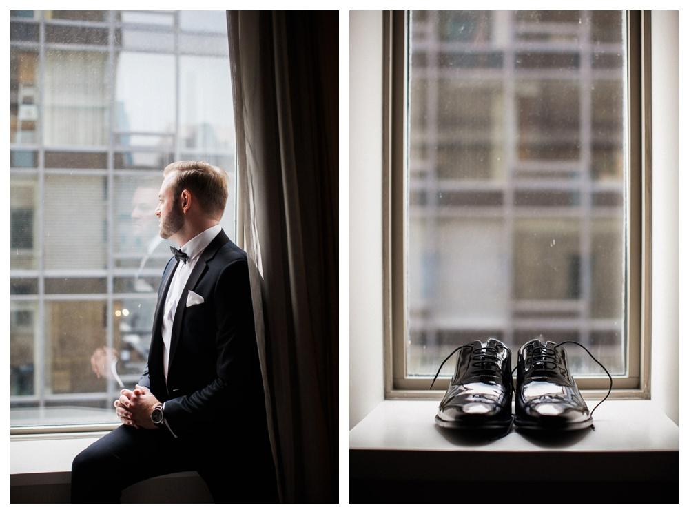White Toronto, luxe, wedding, Gardiner Museum, 99 Sudbury, Ashley Lindzon, groom, Hugo Boss, Indochino, wedding day, wedding shoes,