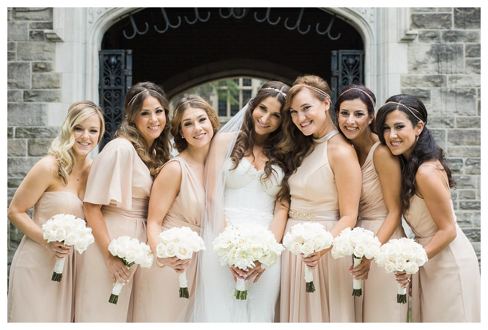 White Toronto, luxe, wedding, wedding dress, Gardiner Museum, 99 Sudbury, Ashley Lindzon, bridesmaids, friendship, Toronto, wedding day, bouquet, International Florist