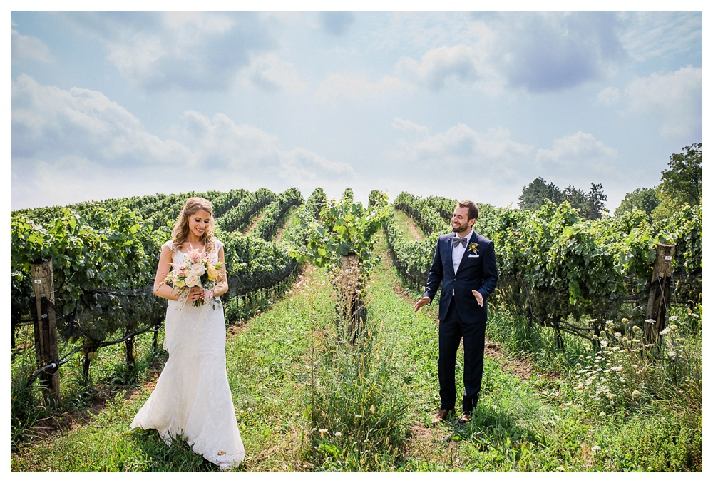 Ravine Winery, wedding, romantic, Niagara-on-the-lake, Blush and Bowties, summer wedding, wedding day, bride, groom, bridal flowers, Hugo Boss, Anais Anette